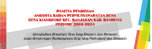 PERDES BADAN PERWAKILAN DESA KIANGROKE 2018