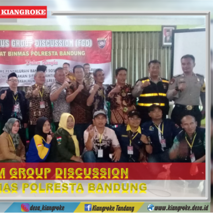 FORUM GROUP DISCUSSION (FGD) SAT BINMAS POLRESTA BANDUNG