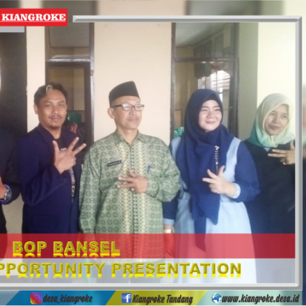 BUSINESS OPPORTUNITY PRESENTATION (BOP) BANSEL