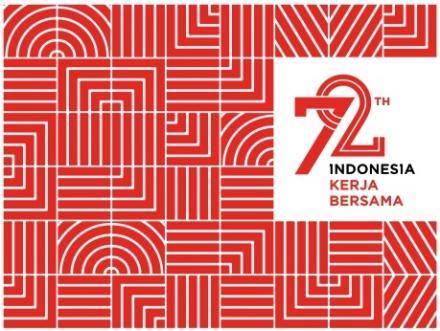 Album : desain Logo HUT ke-72 RI